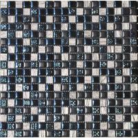 Stakleni Mozaik Crna/Siva 304  300x300