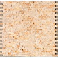 Mozaik pločice Kameni Mozaik PT303 Bež Reljefni 305x305