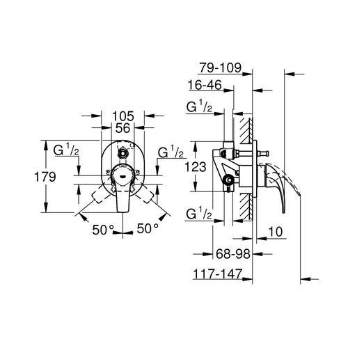 Bau Curve mešač sa prebacivačem