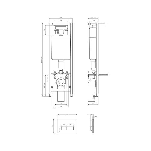 Ugradni vodokotlić W3710AA